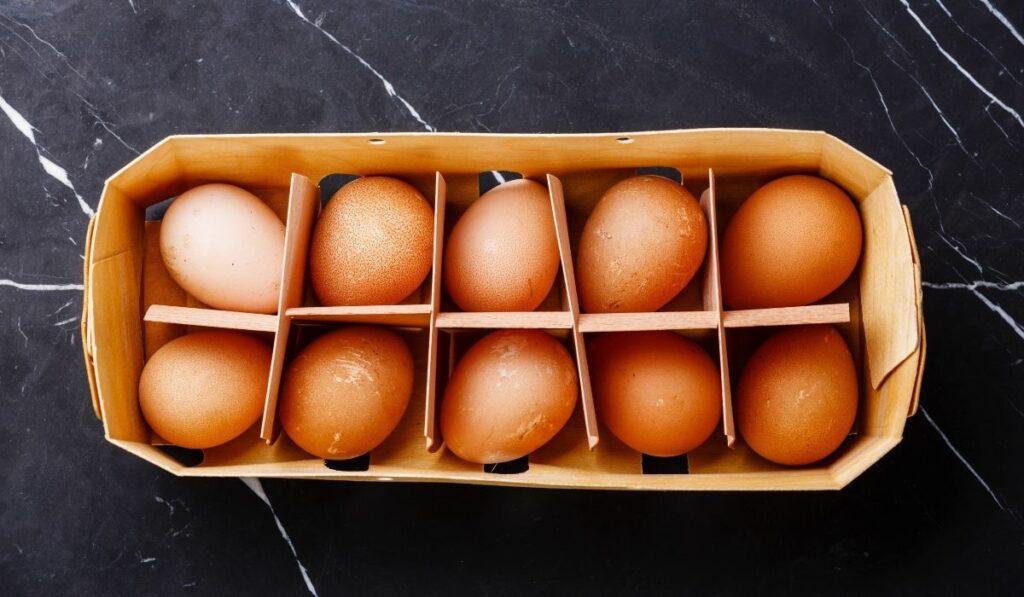 Guinea Fowl Eggs in the Box