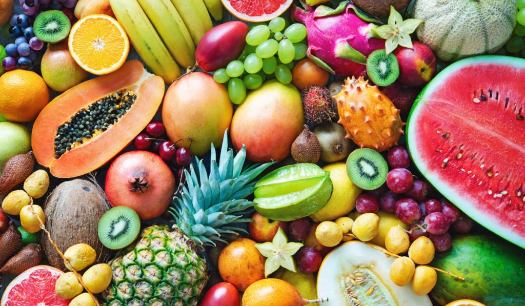 Assorted tropical fruit