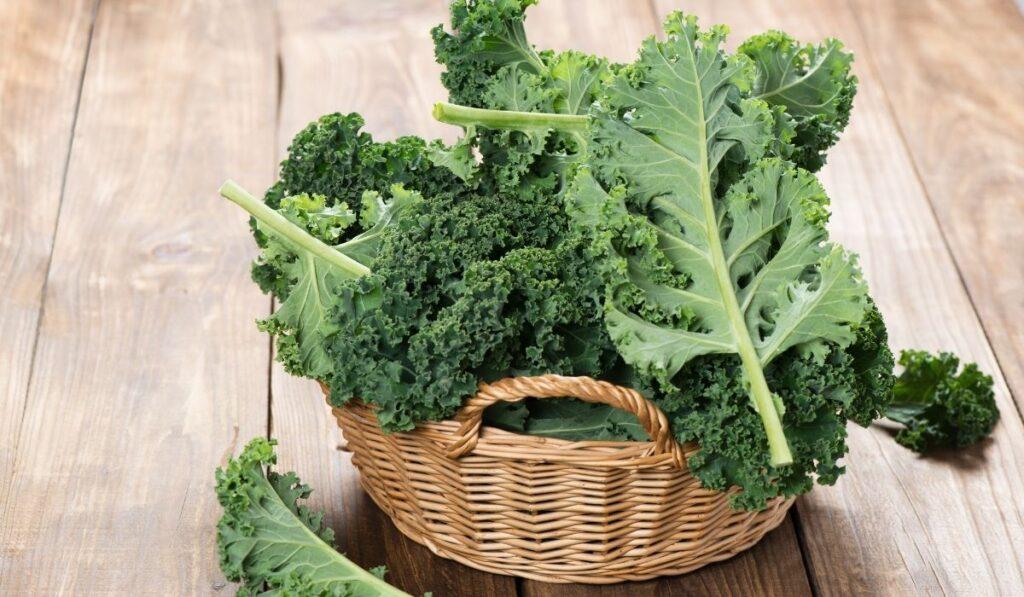 kale in a basket