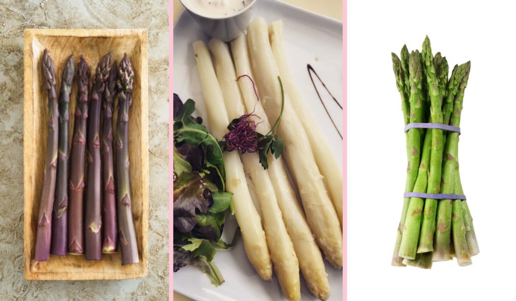 different asparagus