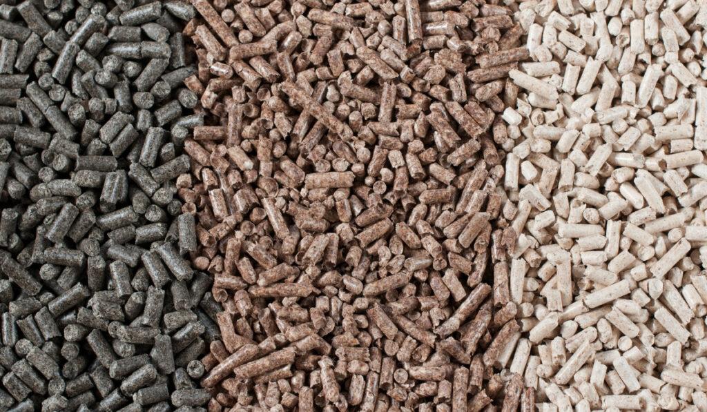 pine, beech and sunflower pellets